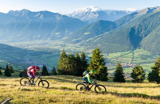 Mountainbike in Vinschgau